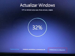 actualización windows10