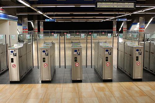Los tornos del Metro de Madrid recogen mildes de datos cada día