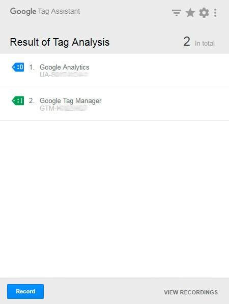 results tag analysis
