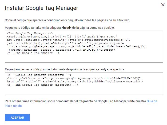 instalar google tag manager