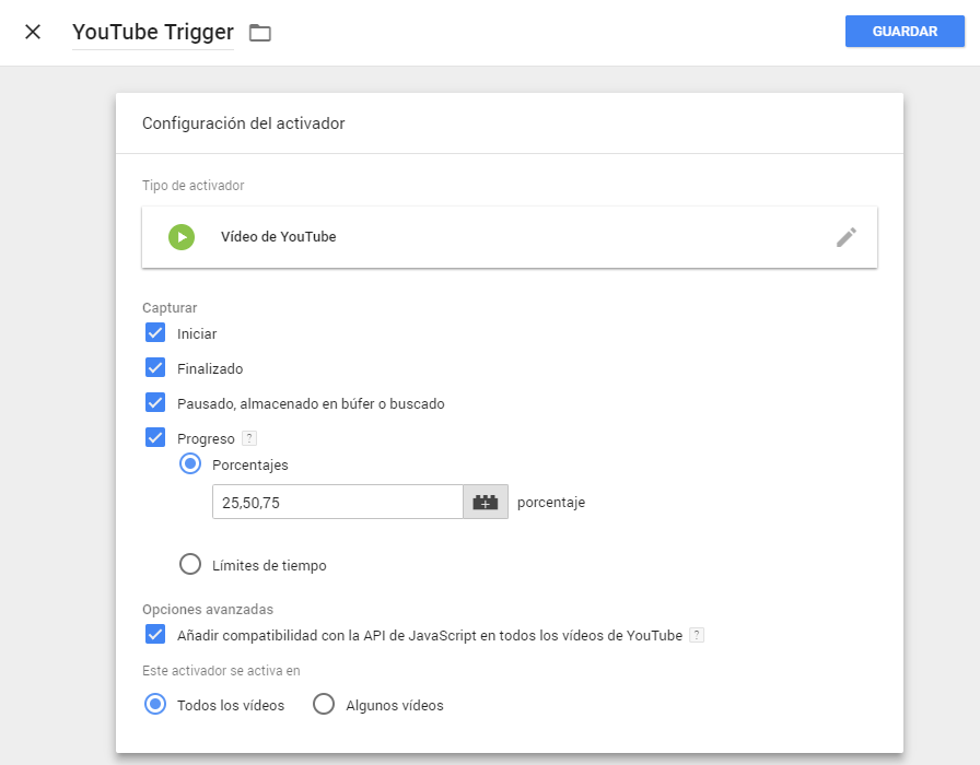 trigger video youtube en gtm