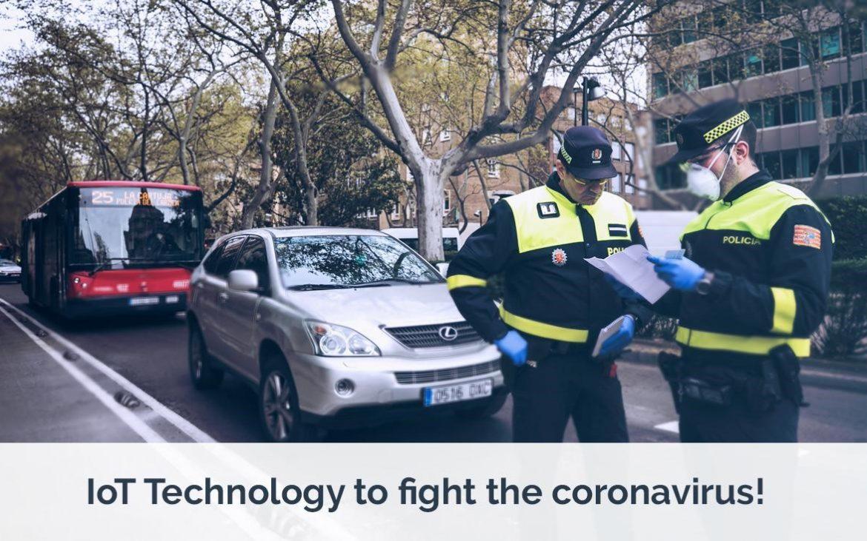 Policía controlando las calles de la ciudad de Zaragoza (Libelium)